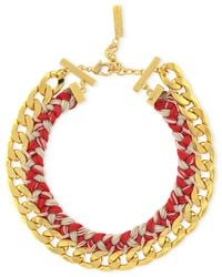 Vince Camuto | Red Gold-Tone Woven Neon Drama Collar Necklace | Lyst