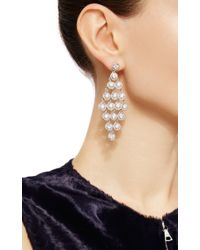 Nina Runsdorf | Metallic 18k White Gold And Diamond Earrings | Lyst