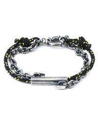 Anchor & Crew | Metallic All Black Belfast Rope Bracelet for Men | Lyst