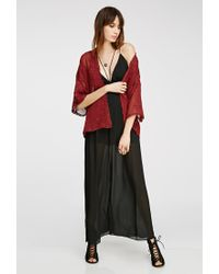 Forever 21 | Embroidered Sheer Kimono | Lyst