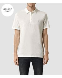 AllSaints - White Soul Polo Usa Usa for Men - Lyst