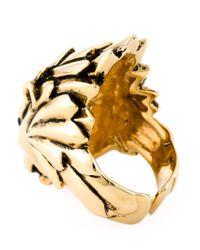 Giuseppe Zanotti - Metallic Lion Ring - Lyst