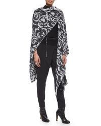 St. John - Black Sarong-style Cropped Pants - Lyst