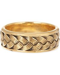 Nialaya - Metallic Cable Ring for Men - Lyst