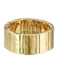 Lauren by Ralph Lauren | Metallic Multi Size Bar Stretch Bracelet | Lyst