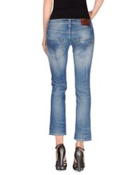Dondup - Blue Denim Trousers - Lyst