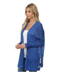Kensie | Blue Fine Gauge Cardigan Ks6k5001 | Lyst