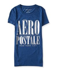 Aéropostale | Blue Glitzy Aero Graphic T | Lyst