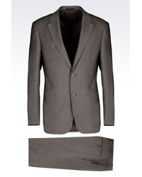 Armani - Gray Comfort Fit Suit In Virgin Wool for Men - Lyst