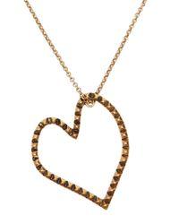 Lucky Brand - Metallic Goldtone Open Heart Pendant Necklace - Lyst