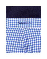 "Ralph Lauren Purple Label | Blue 6"" Gingham Mayfair Swim Trunk for Men | Lyst"