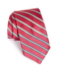 Ted Baker | Red 'candy Stripes' Silk Tie for Men | Lyst