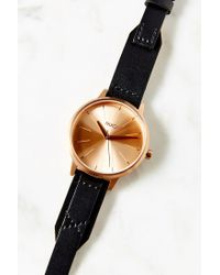 Nixon - Pink Kensington Leather Rose Gold Watch - Lyst