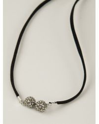 Roni Blanshay - Black Snake Pendant Necklace - Lyst