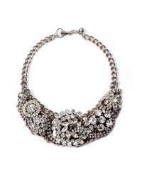 Lulu Frost - Metallic Silvertone Collage Necklace - Lyst