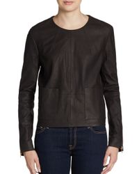 J Brand | Brown Bliss Suede Top for Men | Lyst
