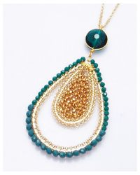 Nakamol | Multicolor SatinãƒÂ© Pendant Necklace-Green | Lyst