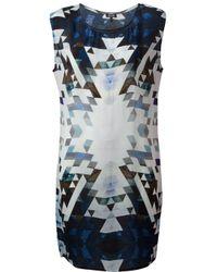 2nd Day - Blue Geoma Print Dress - Lyst
