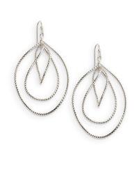 Saks Fifth Avenue | Metallic Triple-drop Earrings | Lyst