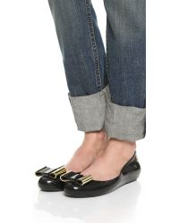 Melissa | Black Space Love Ii Bow Flats | Lyst