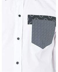 Dolce & Gabbana - White Patch Pocket Shirt for Men - Lyst