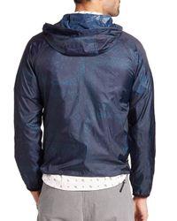 Madison Supply - Blue Bandana-print Hooded Windbreaker for Men - Lyst