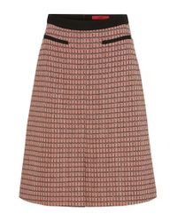 HUGO | Orange 'rinelle' | Cotton Blend A-line Skirt | Lyst
