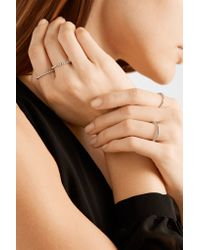Arme De L'Amour - Metallic Simple Sphere Set Of Four Silver-plated Rings - Lyst