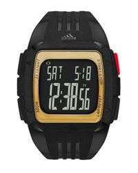 Adidas Originals - Black Adidas Originals 'duramo Xl' Digital Watch - Lyst