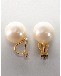 Carolee | 14mm White Pearl Stud Earrings | Lyst