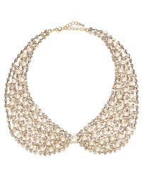 River Island - Metallic Gold Tone Faux Pearl Collar Necklace - Lyst