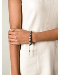 Loree Rodkin | Brown Beaded Tassel Bracelet | Lyst