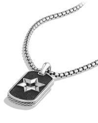 David Yurman - Metallic Star Of David Tag Chain Necklace - Lyst