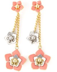 Fendi | Pink 'Blossom' Earrings | Lyst
