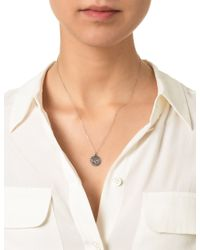 Laura Lee | Metallic Silver Diamond Cancer Necklace | Lyst