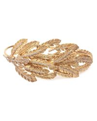 Joanna Laura Constantine | Metallic Leaves Hand Bracelet | Lyst
