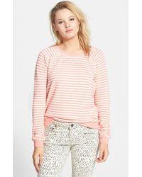 Volcom - Pink 'Hideaway' Stripe Pullover - Lyst