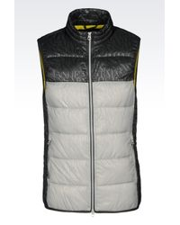 Armani Jeans | Gray Down Gilet In Technical Fabric for Men | Lyst
