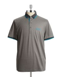 BOSS Green - Gray Paddy Pro Modern Fit Polo Shirt for Men - Lyst