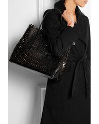 Alaïa - Black Vienna Laser-Cut Leather Tote - Lyst