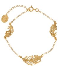 Alex Monroe - Metallic Gold-plated Peacock Feather Bracelet - Lyst