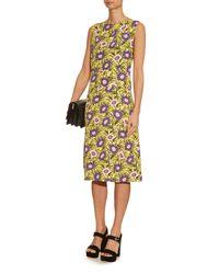Marni - Yellow Asticon-Print Crepe Dress - Lyst