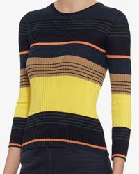 Apiece Apart - Black Striped Ribbed Knit - Lyst
