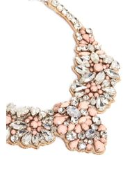 Valentino | Multicolor Satin Back Opal Strass Necklace | Lyst