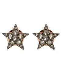 Annoushka - Pink Rose Gold Love Diamonds Star Stud Earrings - Lyst