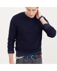 J.Crew | Blue Reverse Terry Sweatshirt for Men | Lyst