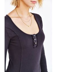 Truly Madly Deeply | Black Cassidy Henley Top | Lyst