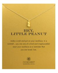 Dogeared | Metallic Reminders Hey, Little Peanut Sterling Silver Pendant Necklace | Lyst