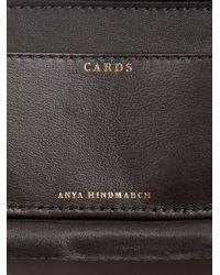 Anya Hindmarch - Blue Mini Marano Snakeskin Card Case - Lyst