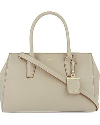 DKNY - Brown Chelsea Leather Satchel Bag - For Women - Lyst